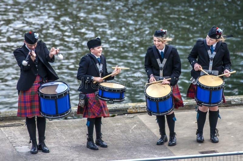 Τα σκωτσέζικα drummer6 στοκ εικόνες