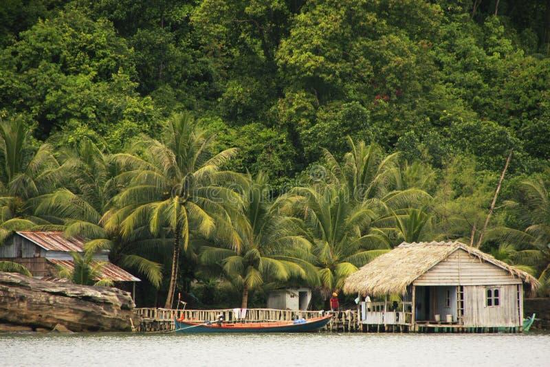 Τα σπίτια ξυλοποδάρων, διευρύνουν το εθνικό πάρκο, Καμπότζη στοκ εικόνες με δικαίωμα ελεύθερης χρήσης
