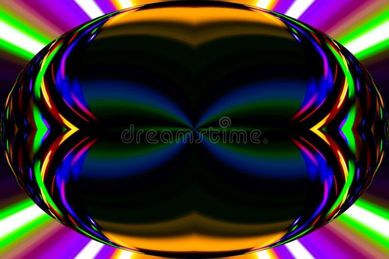 Τα στοιχεία χρώματος δημιουργούν τη φανταστική εικόνα elipse διανυσματική απεικόνιση