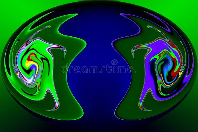 Τα στοιχεία χρώματος δημιουργούν τις φανταστικές εικόνες ελεύθερη απεικόνιση δικαιώματος