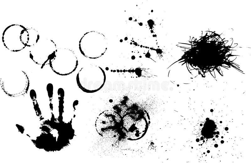 τα στοιχεία grunge θέτουν διάφ&omic