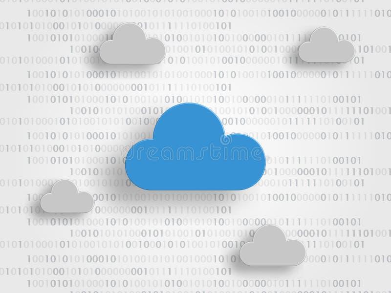 Τα σύννεφα στα ψηφία ως υπόβαθρο αντιπροσωπεύουν iCloud την έννοια τεχνολογίας τεχνολογία πλανητών γήινων τηλεφώνων δυαδικού κώδι απεικόνιση αποθεμάτων