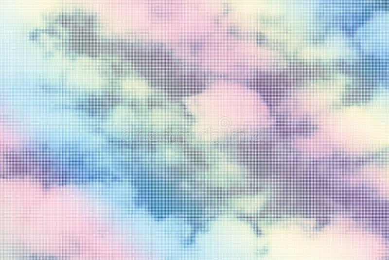Τα σύννεφα στη γλυκιά κρητιδογραφία στοκ φωτογραφία