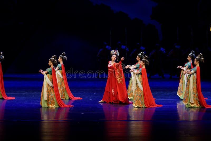 Τα σύνορα η συνήθεια-τέσσερα πράξη ` εμπόδισαν τον εκτελωνισμό ` - επική πριγκήπισσα ` μεταξιού δράματος ` χορού στοκ εικόνα με δικαίωμα ελεύθερης χρήσης