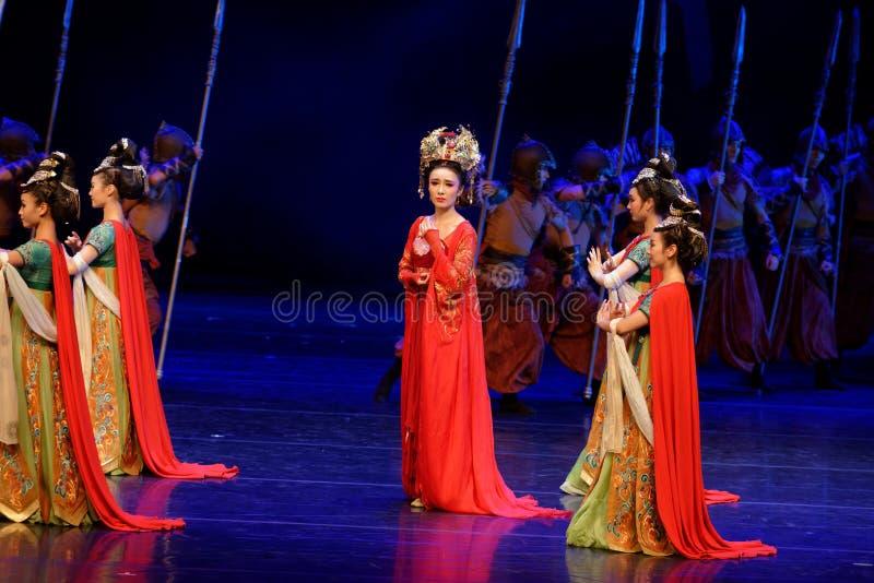 Τα σύνορα η συνήθεια-τέσσερα πράξη ` εμπόδισαν τον εκτελωνισμό ` - επική πριγκήπισσα ` μεταξιού δράματος ` χορού στοκ εικόνες με δικαίωμα ελεύθερης χρήσης