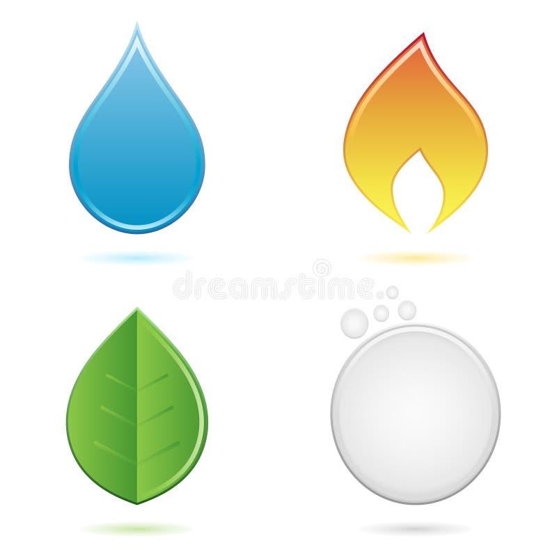 Τα τέσσερα στοιχεία απεικόνιση αποθεμάτων