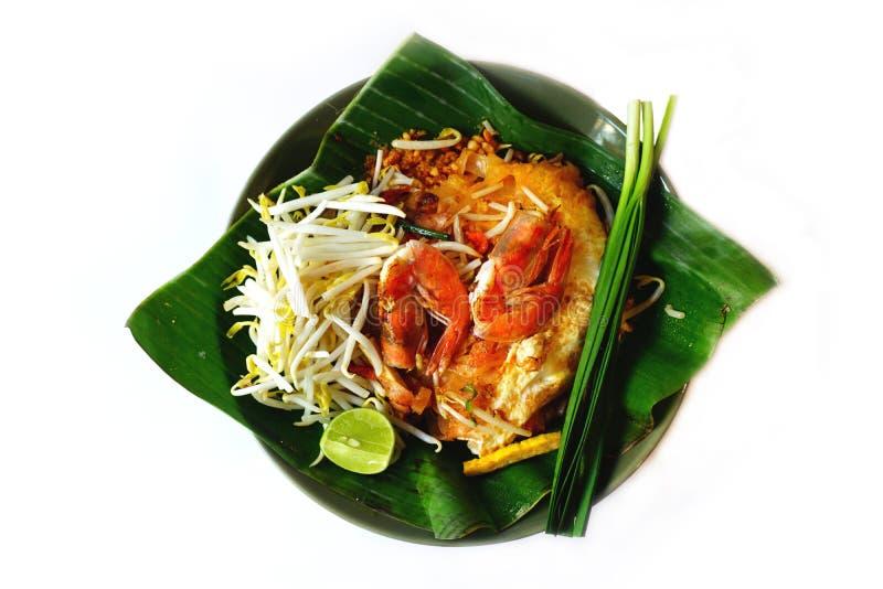 Τα ταϊλανδικό νουντλς ή Padthai ύφους, διακοσμούν, λαχανικό, γαρίδες στοκ εικόνες