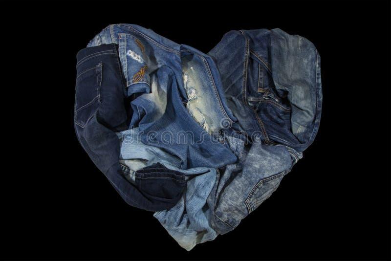 Τα τζιν είναι υπέροχα λεπτομερή μπλε, σκούρο μπλε και μαύρα στοκ φωτογραφία με δικαίωμα ελεύθερης χρήσης