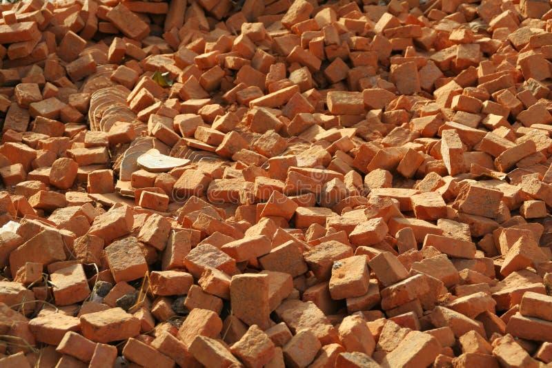 τα τούβλα συσσωρεύουν το κόκκινο στοκ φωτογραφίες με δικαίωμα ελεύθερης χρήσης