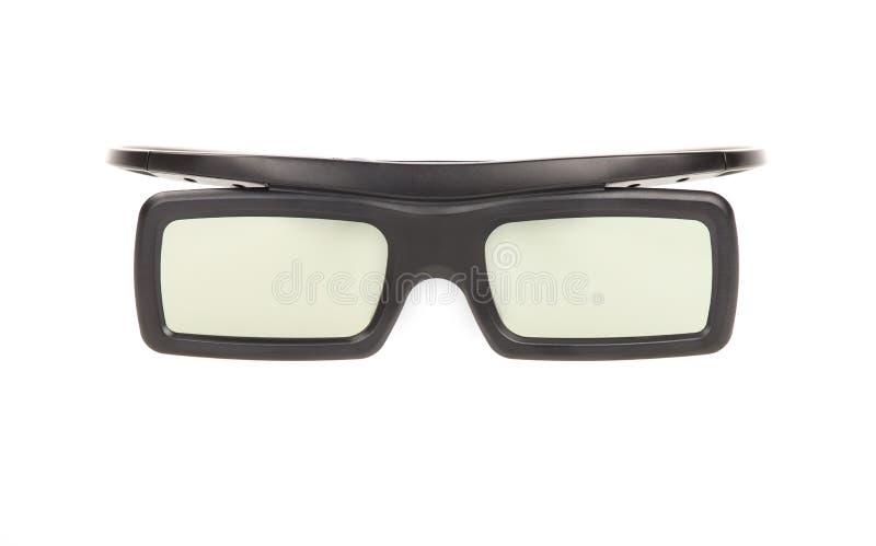 τα τρισδιάστατα γυαλιά ανασκόπησης απομόνωσαν το λευκό στοκ φωτογραφίες
