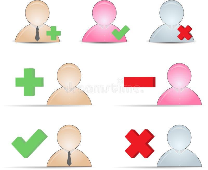 τα τρισδιάστατα εικονίδ&iota ελεύθερη απεικόνιση δικαιώματος