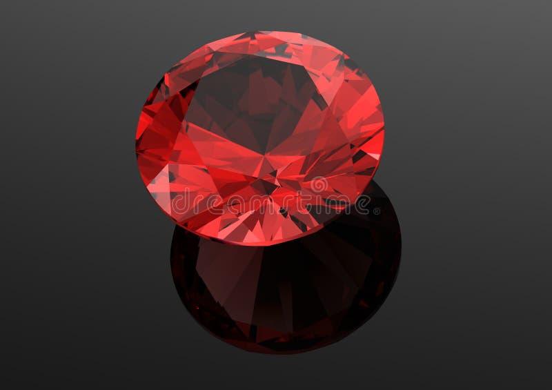 τα τρισδιάστατα διαμάντια δίνουν Πολύτιμος λίθος κοσμήματος γρανάτης ελεύθερη απεικόνιση δικαιώματος