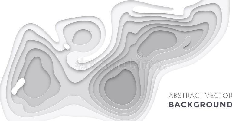 τα τρισδιάστατα στρώματα papercut, έγγραφο κόβουν το διανυσματικό πρότυπο ιστοχώρου σύστασης εμβλημάτων υποβάθρου τέχνης απεικόνιση αποθεμάτων