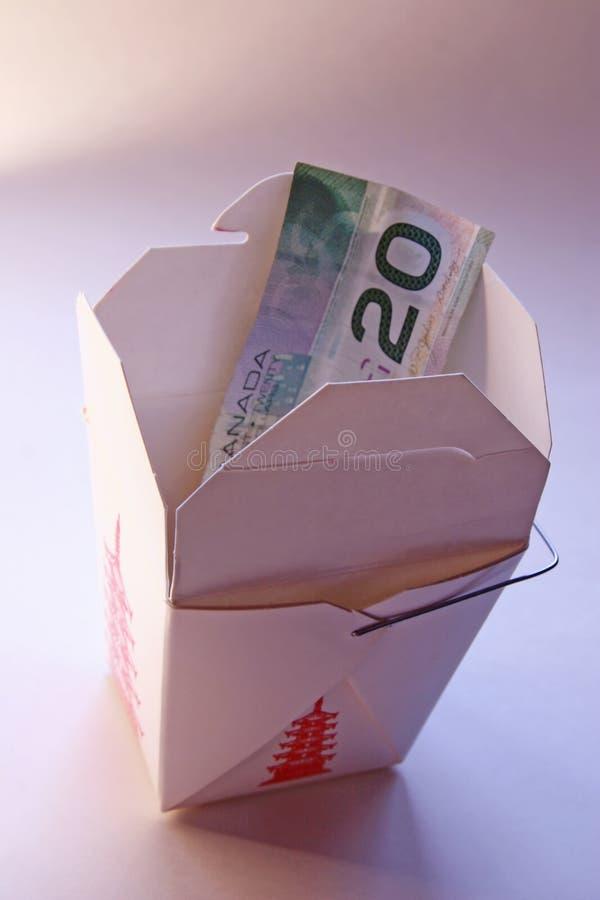 τα τρόφιμα δαπανών υψηλά έξω π&a στοκ εικόνα
