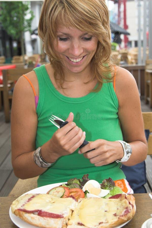 τα τρόφιμα ευτυχή με κάνου στοκ εικόνες