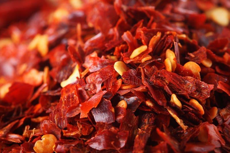 τα τσίλι τσίλι συνέτριψαν το καυτό κόκκινο πιπεριών στοκ εικόνα με δικαίωμα ελεύθερης χρήσης