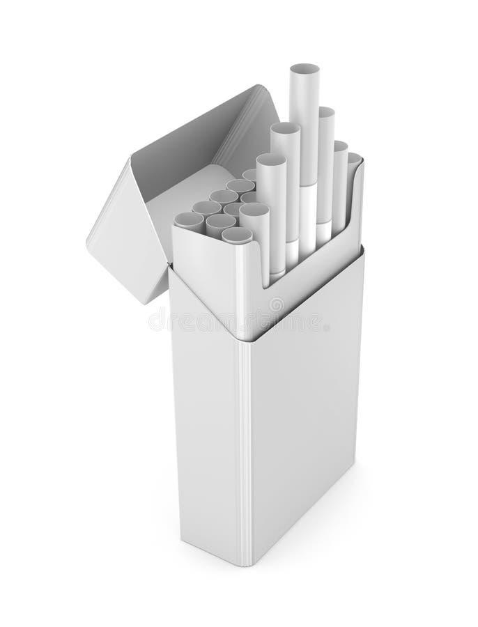 Τα τσιγάρα συσκευάζουν την τρισδιάστατη απεικόνιση που απομονώνεται διανυσματική απεικόνιση