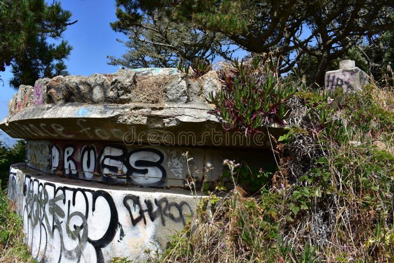 Τα υπολείμματα του δυτικού οχυρού Miley εωραιοποίησαν κάτω από τα γκράφιτι, 24 στοκ φωτογραφία