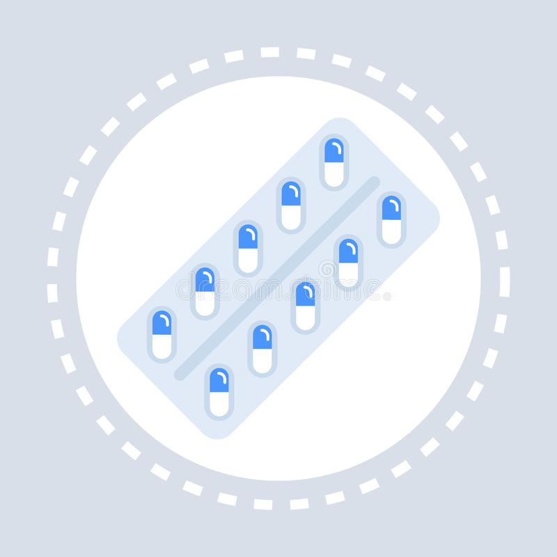 Τα φαρμακευτικές χάπια ή οι βιταμίνες στη φουσκάλα συσκευάζουν την ιατρική λογότυπων ιατρικής υπηρεσίας υγειονομικής περίθαλψης ε ελεύθερη απεικόνιση δικαιώματος
