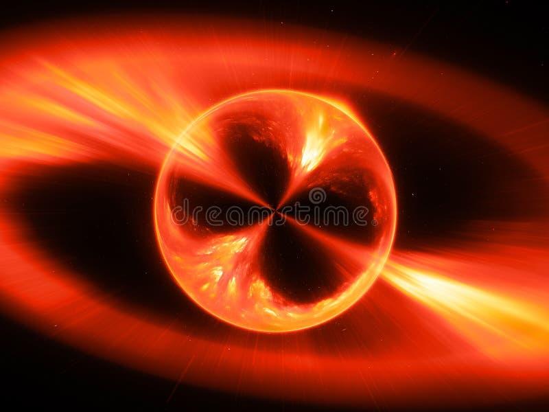 Τα φλογερά supermassive mysterios αντιτίθενται στη διαστημική έκρηξη ακτίνων γάμμα, παραγμένο υπολογιστής αφηρημένο υπόβαθρο, τρι απεικόνιση αποθεμάτων