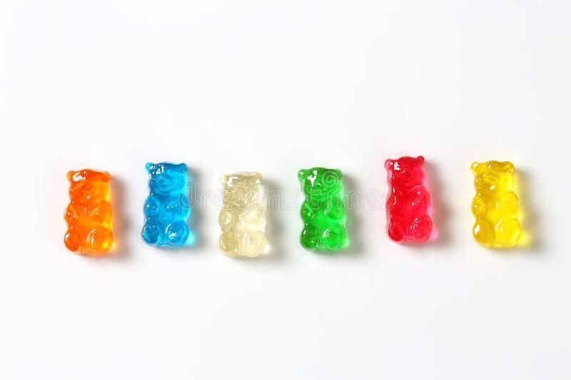 Τα φρούτα αρωμάτισαν τις gummy αρκούδες στοκ εικόνα
