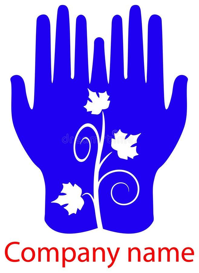 τα χέρια βγάζουν φύλλα ελεύθερη απεικόνιση δικαιώματος