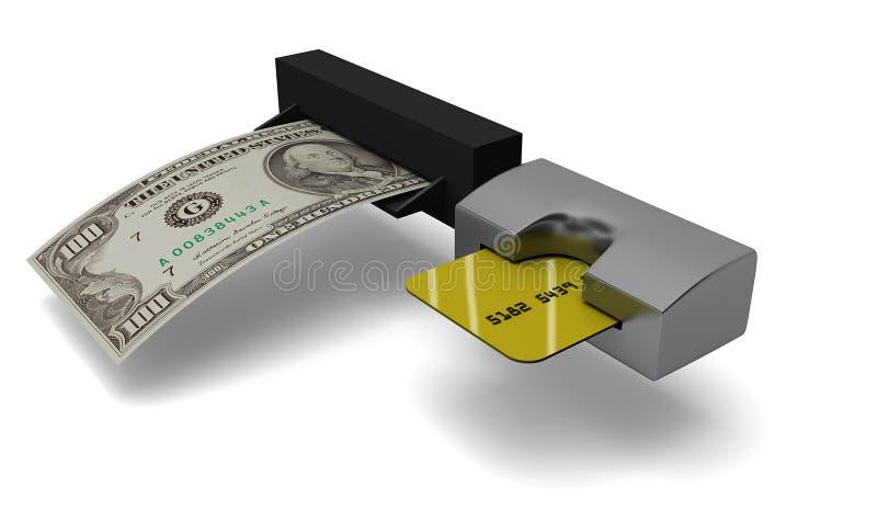 Τα χρήματα αποσύρουν διανυσματική απεικόνιση