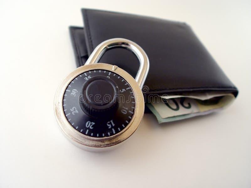 τα χρήματα εξασφαλίζουν το σας στοκ εικόνες
