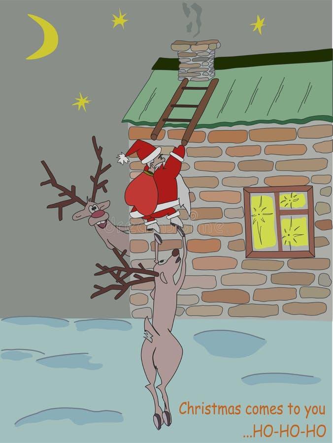Τα Χριστούγεννα έρχονται ελεύθερη απεικόνιση δικαιώματος