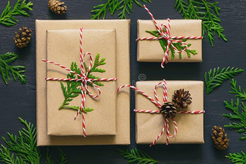 Τα Χριστούγεννα ή το νέο έτος παρουσιάζουν τη συλλογή στοκ εικόνες με δικαίωμα ελεύθερης χρήσης