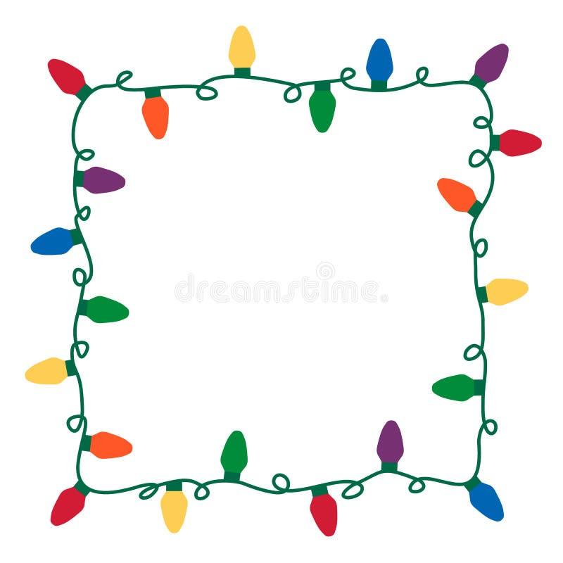 Τα Χριστούγεννα ανάβουν τα σύνορα διανυσματική απεικόνιση