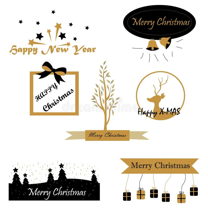 Τα Χριστούγεννα επιθυμούν τα σχέδια κειμένων ελεύθερη απεικόνιση δικαιώματος