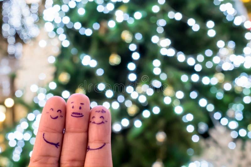 Τα Χριστούγεννα και το τρίδαχτυλο ζωγραφίζουν περίεργα στοκ φωτογραφία με δικαίωμα ελεύθερης χρήσης