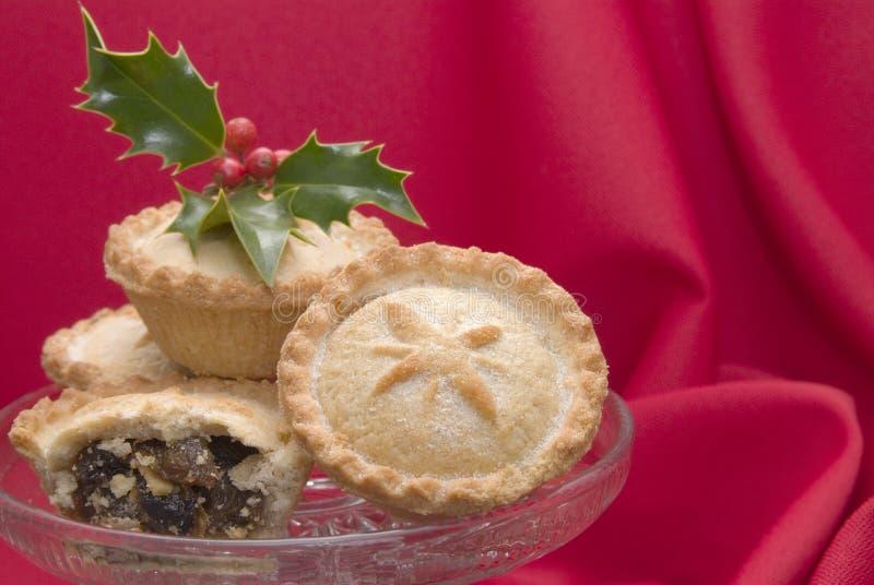 τα Χριστούγεννα κομματιάζουν τις πίτες στοκ εικόνα με δικαίωμα ελεύθερης χρήσης