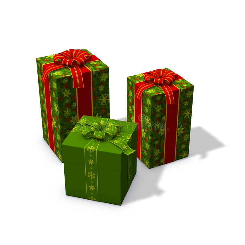 τα Χριστούγεννα πράσινα πα& ελεύθερη απεικόνιση δικαιώματος