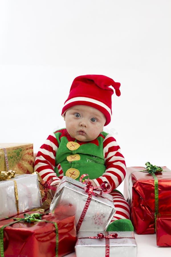 τα Χριστούγεννα πρώτα μου & στοκ εικόνα