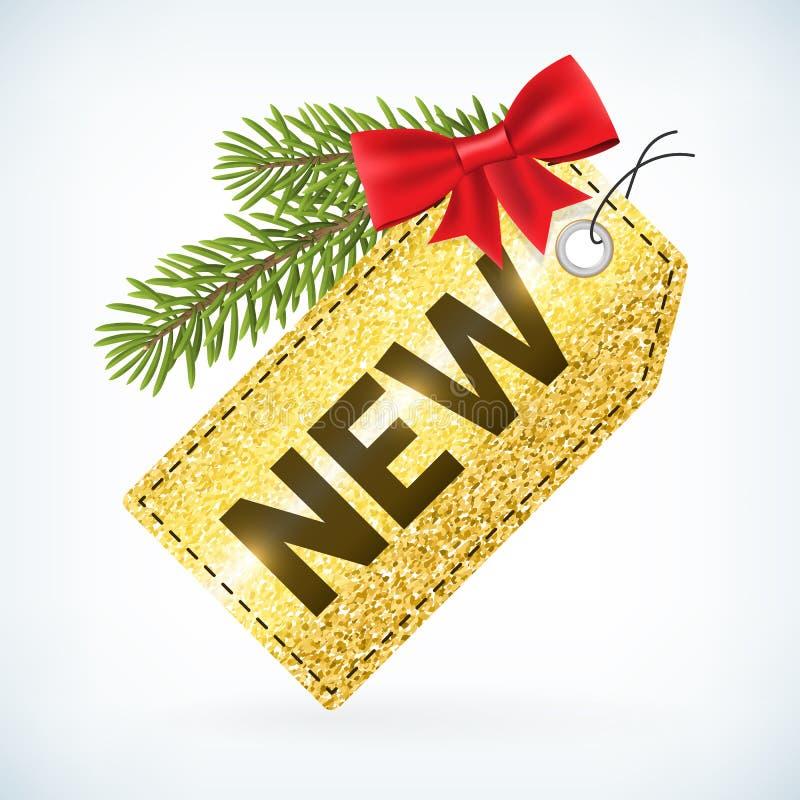 Τα Χριστούγεννα τιμής χρυσού ονομάζουν νέο ελεύθερη απεικόνιση δικαιώματος
