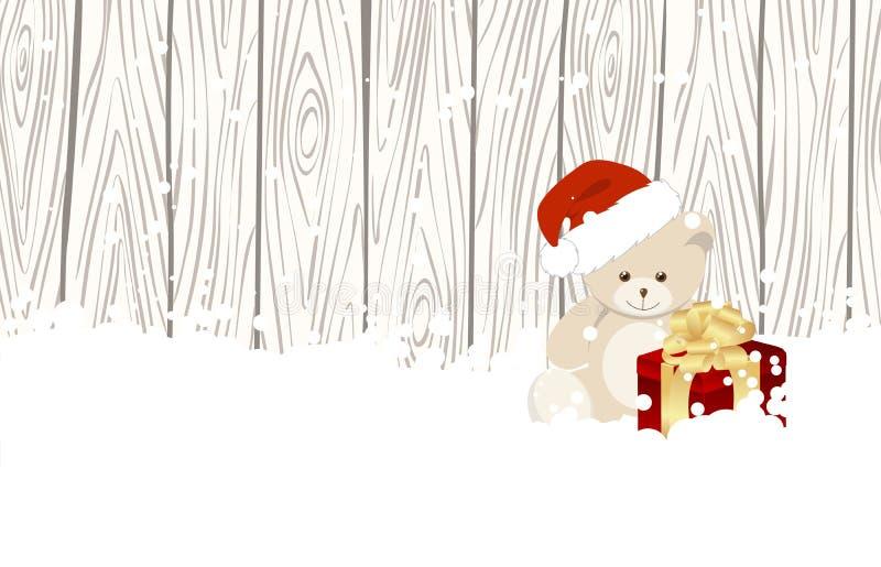 Τα Χριστούγεννα Teddy αντέχουν διανυσματική απεικόνιση