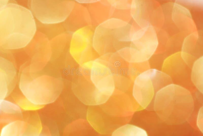 Τα χρυσά, ασημένια, κόκκινα, άσπρα, πορτοκαλιά αφηρημένα φω'τα bokeh, το υπόβαθρο στοκ εικόνα με δικαίωμα ελεύθερης χρήσης