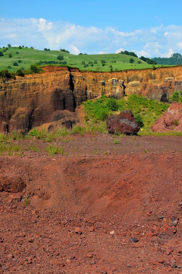 Τα χρώματα του εκλείψας vulcano Racos Brasov, Ρουμανία, Heghes στοκ εικόνες με δικαίωμα ελεύθερης χρήσης