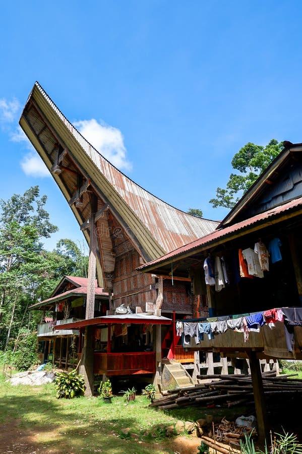 Τα χωριά στη Tana Toraja, Sulawesi στοκ φωτογραφίες με δικαίωμα ελεύθερης χρήσης