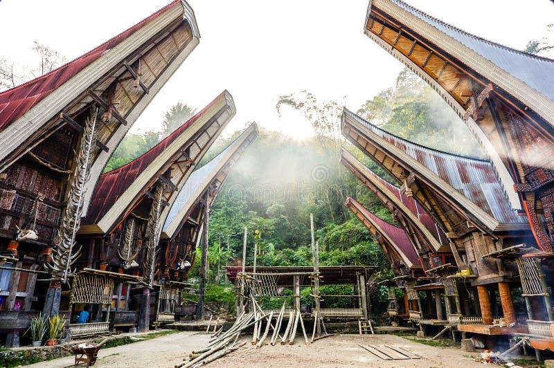 Τα χωριά στη Tana Toraja, Sulawesi στοκ φωτογραφία με δικαίωμα ελεύθερης χρήσης