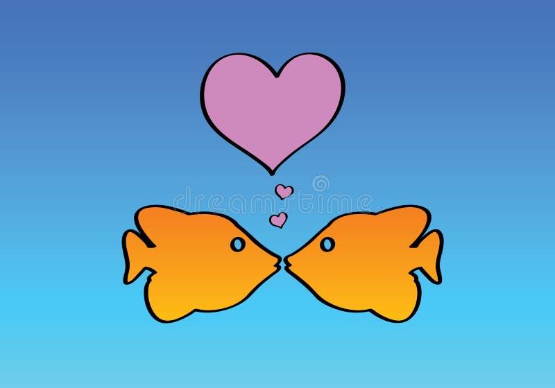 Download τα ψάρια αγαπούν δύο διανυσματική απεικόνιση. εικονογραφία από μικρός - 2231319