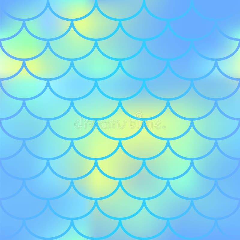 Τα ψάρια ξεφλουδίζουν το άνευ ραφής σχέδιο Το Fishscale κλείνει την άποψη Διανυσματική σύσταση της κλίμακας ψαριών διανυσματική απεικόνιση