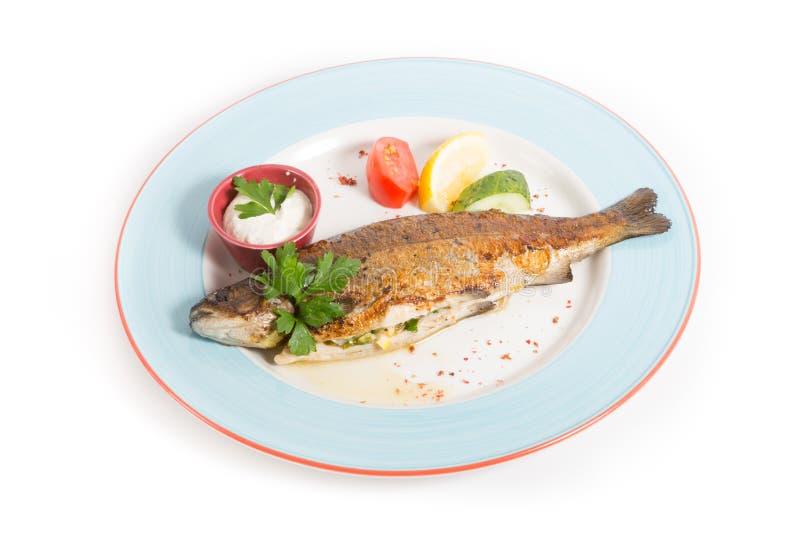 τα ψάρια τηγάνισαν το σύνολ& στοκ εικόνες με δικαίωμα ελεύθερης χρήσης