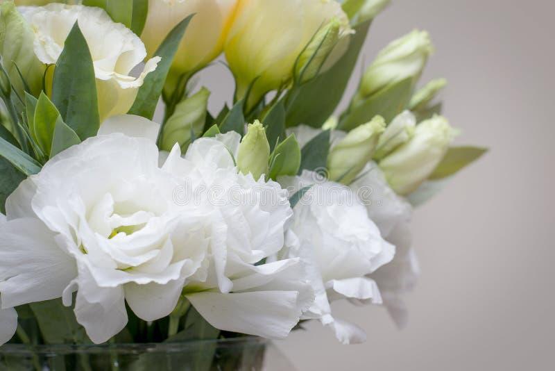 Τα όμορφα άσπρα λουλούδια Lisianthus φαίνονται τόσο πολλά όμοια τριαντάφυλλα στοκ φωτογραφία με δικαίωμα ελεύθερης χρήσης