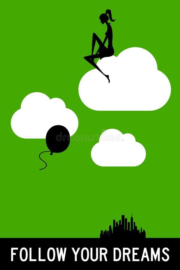τα όνειρα ακολουθούν τ&omicron ελεύθερη απεικόνιση δικαιώματος