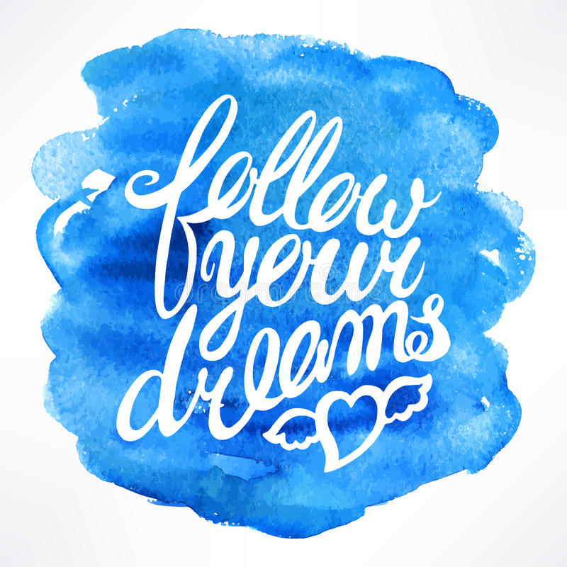 τα όνειρα ακολουθούν τ&omicron διανυσματική απεικόνιση