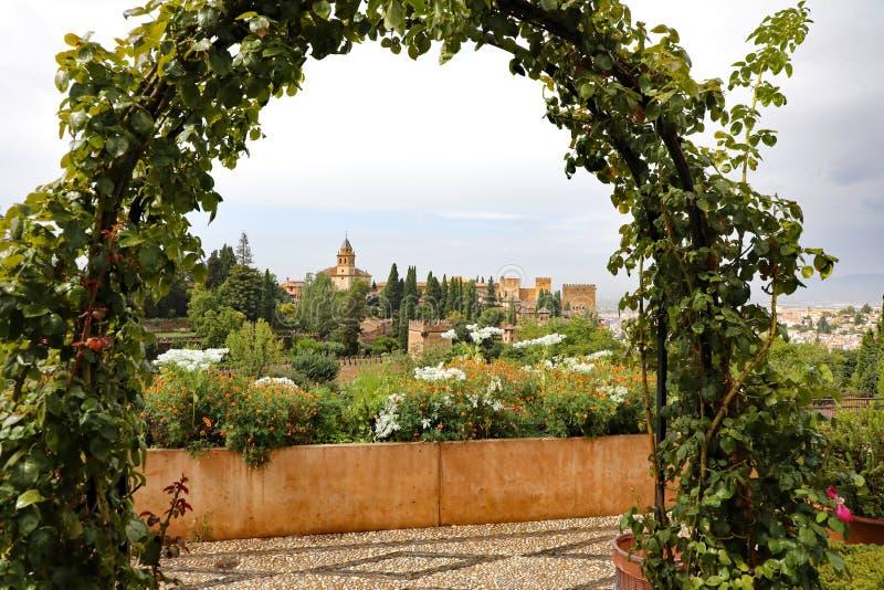 Τα Alhambra παλάτια στοκ εικόνες