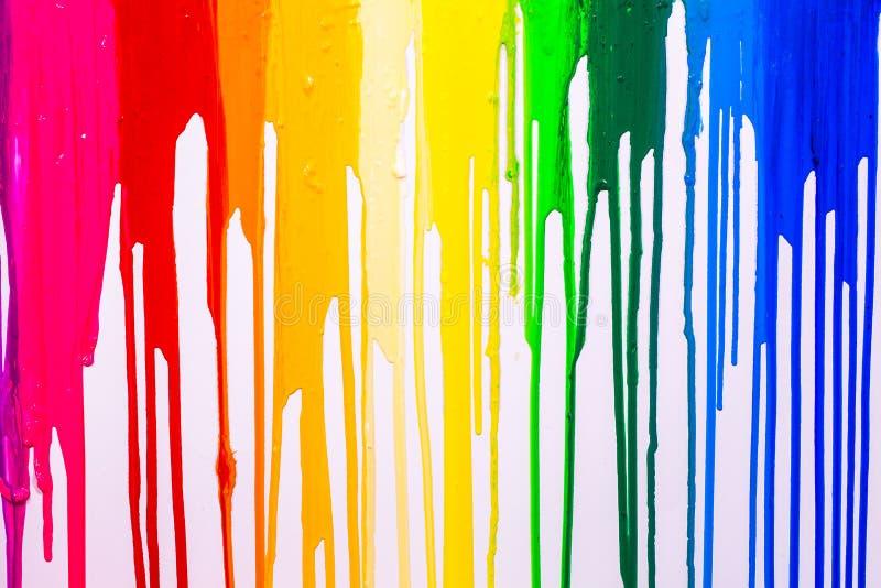 τα cilors ουράνιων τόξων της οθόνης τυπώνουν τα χρώματα είναι στάζοντας στοκ φωτογραφίες